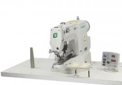 SUPREME CSM-438GA liela ātruma slēgtā dūriena pogu piešūšanas mašīna ar elektronisko vadību