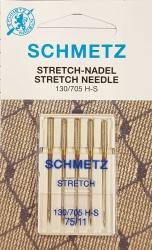Šujmašīnas adatu komplekts sadzīves šujmašīnām trikotāžai SCHMETZ Stretch (5 gab. Nm.75)