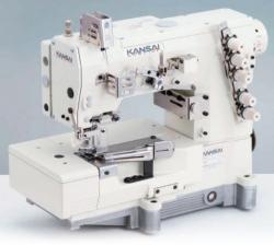Kansai Special NW / WX / LX rūpnieciskā plakanšuves šujmašīna ar plakano platformu
