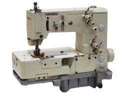 Kansai Special PX-302-4W rūpnieciskā ķēdes dūriena šujmašīna dekoratīvai apdarei