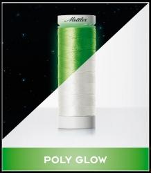 Spīdoši tumsā izšūšanas diegi Mettler Poly Glow