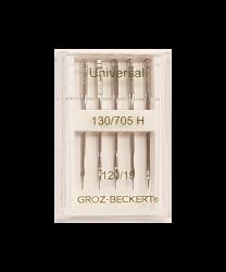 Šujmašīnas adatu komplekts sadzīves šujmašīnām GROZ-BECKERT (5 gab. Nm.120)
