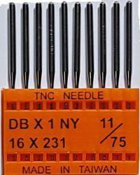 DBx1 NM75 (universālas) adatas rūpnieciskajai šujmašīnai TRIUMPH (10 gab.)