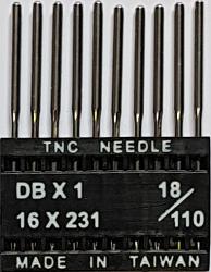 DBx1 NM110 (universālas) adatas rūpnieciskajai šujmašīnai TRIUMPH (10 gab.)