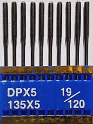 DPx5 (134LR) PVD NM120 (ar titāna pārklājumu) adatas rūpnieciskajai šujmašīnai TRIUMPH (10 gab.)
